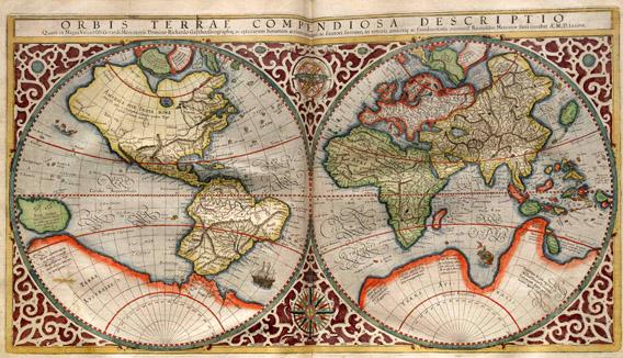 Mercator-Weltkarte mit Terra Australis