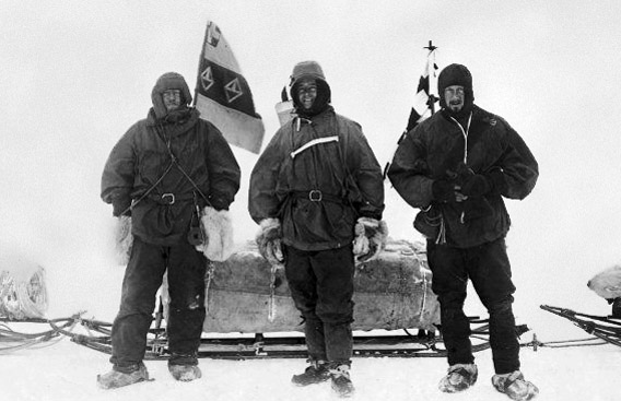 Ernest Shackleton, Robert F. Scott, Edward Wilson, 1902
