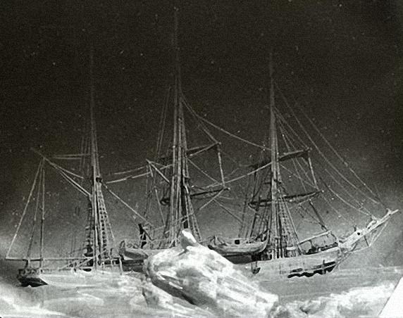 de Gerlaches Schiff Belgica im Eis