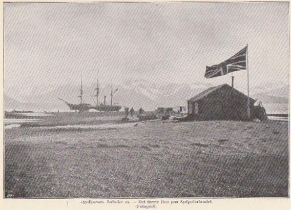 Southern Cross, Schiff von Borchgrevink (1895), im Eis