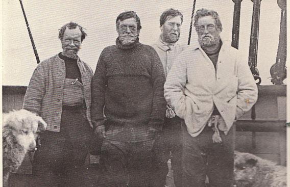 Shackleton, zerbrochener Schlitten