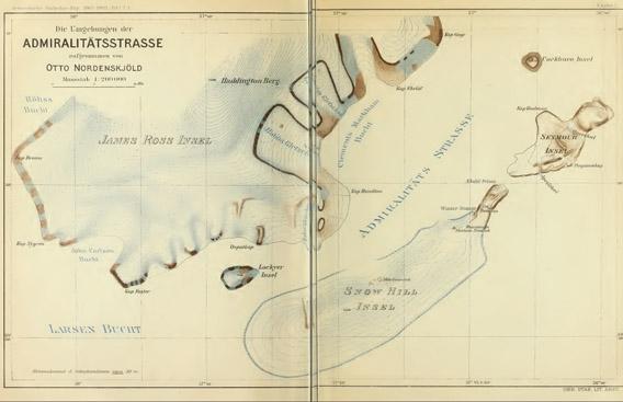 Karte: Admiralty Sound, James Ross Island, Snow Hill Island