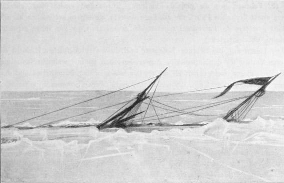 Die Antarctic sinkt