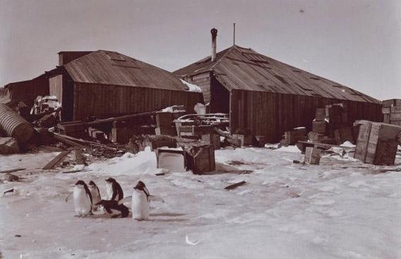 Die Hütte der Australasian Antarctic Expedition am Kap Denison, Commonwealth Bay