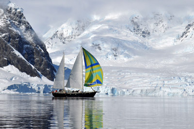 SY Anne-Margaretha in the Antarctic Peninsula area